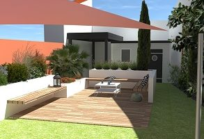 PLAN AMENAGEMENT JARDIN TERRASSE DESIGN LES-SABLES-DOLONNE
