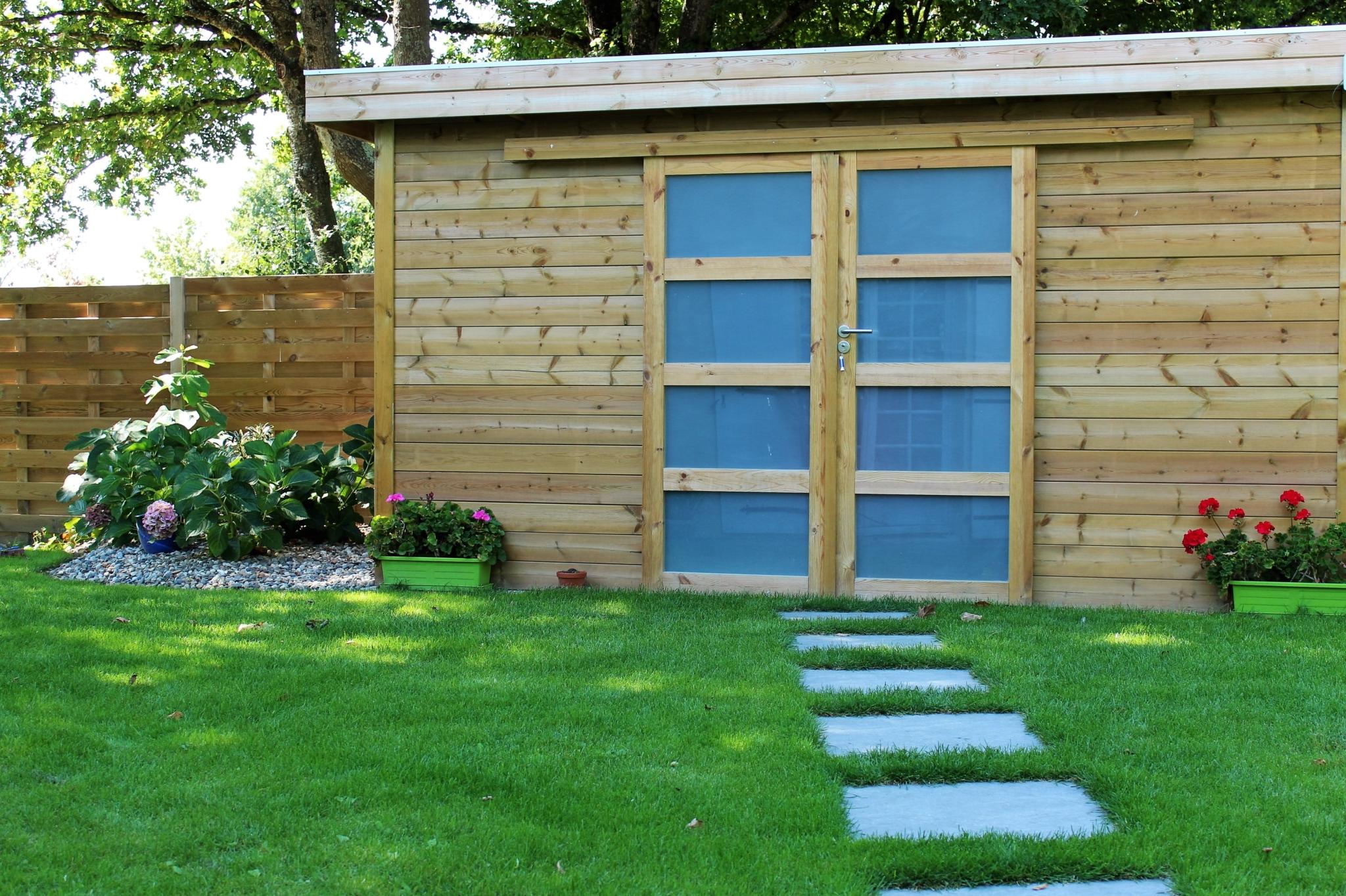 abri de jardin bois marmin vendee · Marmin paysage