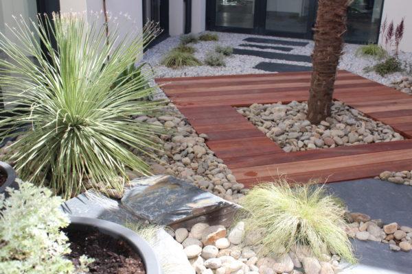 aménagement jardin patio vendee