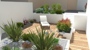 CONCEPTION 3D TERRASSE SUR DIFFERENTS NIVEAUX