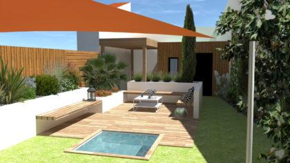 terrasse bois spa vendée