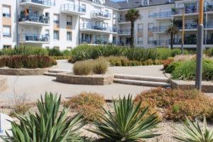 amenagement espaces verts résidence bord de mer vendee