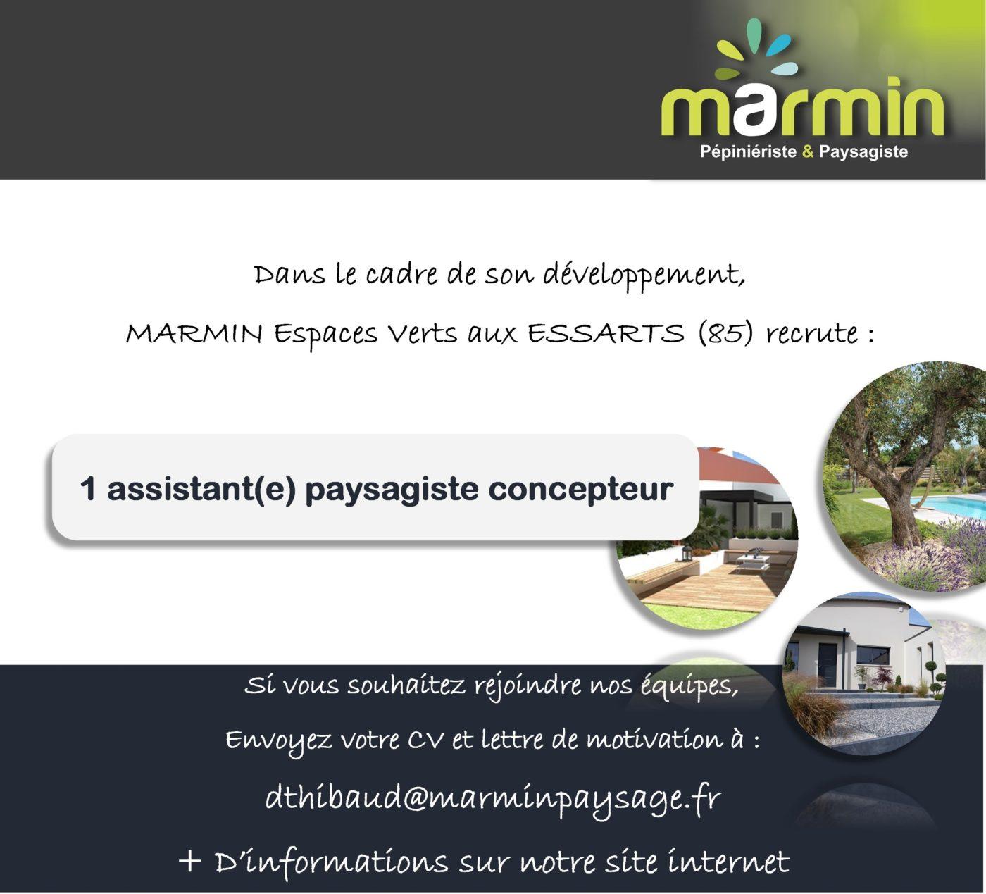 Annonce Emploi Assistant E Paysagiste Concepteur Marmin